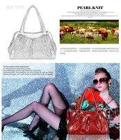 из естественной кожи крокодил шаблон вечернее сумки для женщин красный Semi плечо сумки-женские вечернее сумки