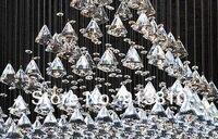 привет качество бесплатная доставка + stood Funk кружка d650 h750mm 110 - 240 в пирамиды дизайн кристалл к9 для салон ресторан отеля Villa