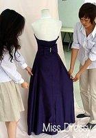 оптовая продажа на madeбесплатная доставка линии без бретелек, атласное платье невесты м и g009886