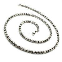 твердые серебряный тон мальчика нержавеющей стали 316L из шарм ожерелье, мужская цепи ожерелья ювелирных изделий способа новое прибытие подарок