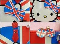 бесплатная доставка привет котенок мода британцев флаг великобритании стильные сумки на Rene сумка отдыха
