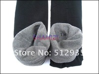 женщины зима бамбук углепластик двойной тепловой тёплый брюки леггинсы черный