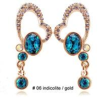 в форме сердца австрийский хрусталь серьги мода ювелирные изделия для подарка женщины святого валентина сме-10051