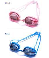 розовый после того, как кнопки цвет очки ПК линзы водонепроницаемый анти-туман плавание спортивная одежда с бесплатная доставка