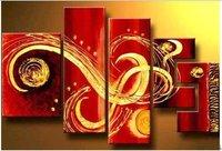 огромный современный абстрактный картина маслом на брезент для комната украшение jyjz037