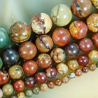 """15.5 """" природный красочные пикассо круглый beads4mm 6 мм 8 мм 10 мм 12 мм выбрать размер бесплатная доставка-f00072"""