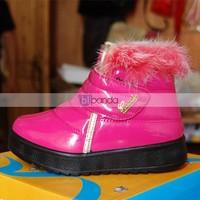 зима новый стиль по уходу за детьми для детей мальчики девочки ларедо до лодыжки снегоступы Luck Blast хлопка-VAT туфли бесплатная доставка