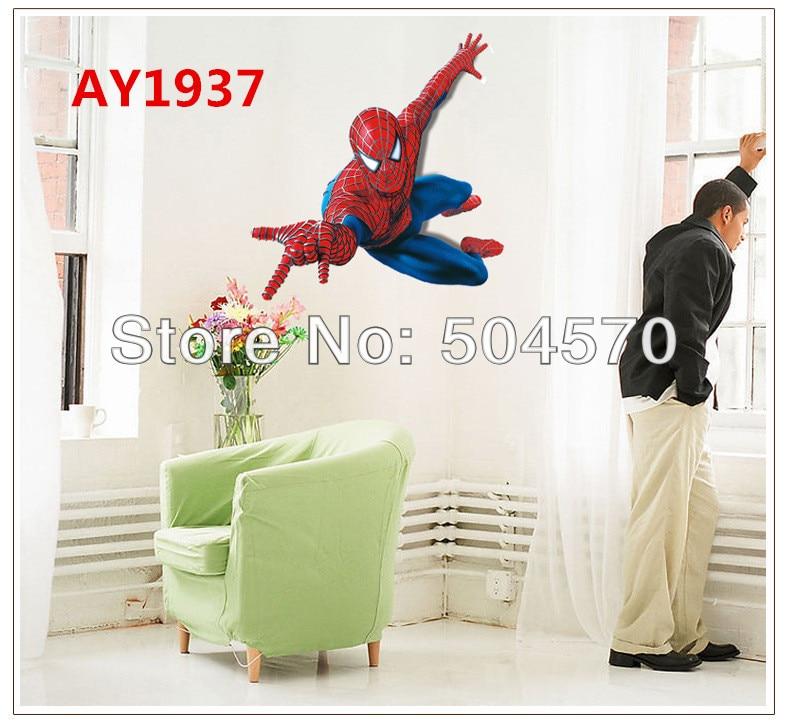 Spiderman 3D Stickers Mur Autocollant Vinyle Kids Nursery Room Home Decor amovible