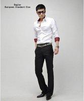 доставка бесплатно машину весна мужская мода свободного покроя стиль рубашка 2 цветов размер сша s / м / L / хl