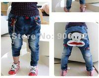 привет котенок девочка мультфильм экспорта джинсы джинсы брюки высокое качество дети среднего брюки леггинсы размер : 5 - 15 # бесплатная доставка