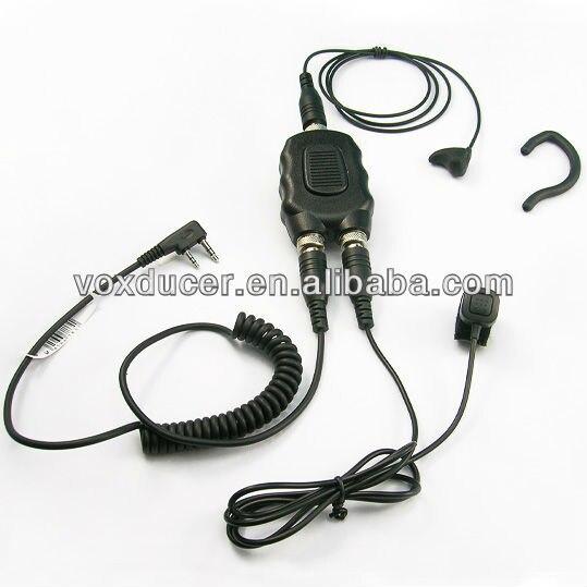 yan 3.5mm Listen Only Earpiece+3.5mm Mono Jack for Speaker Mic for 2-Way Radio Black