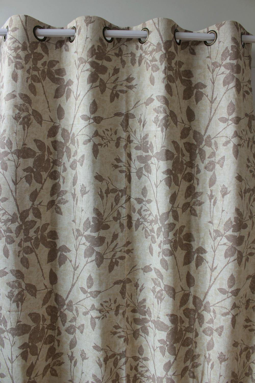 Rideau Gris Perle Ikea vezo maison brun feuilles linge fini fenêtre rideaux panneau