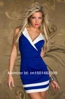 красный, синий и белый Европа и американский внешней торговли платье Seal платье клуба кружево тонкий упаковка платье-мини клуб бесплатная доставка А13