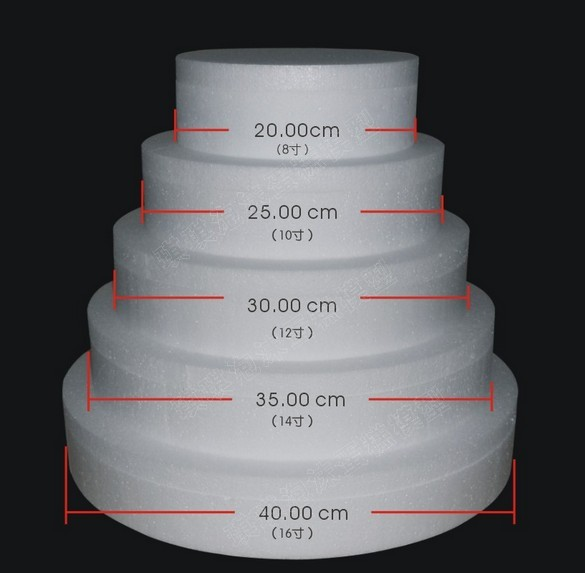 High Quality Styrofoam Layer Cake Model Polyfoam Mould 5 Tiers High50cm