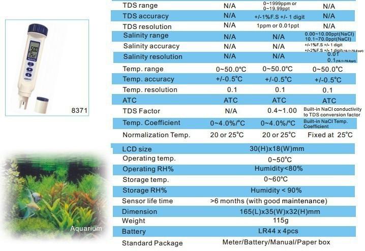 HOT SALE !AZ8351 conductivity test pen/conductivity meter LCD Conductivity Pen-Type Meter