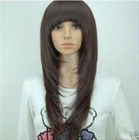 shipping2011vogue прямой черный женщины длинная волос парик парики