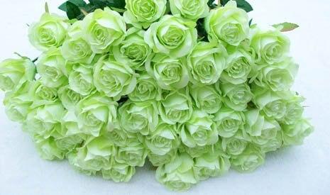Artificial green rose flower 4 colorsredpurple whitegreen pink artificial green rose flower 4 colorsredpurple whitegreen pink rose decoration mightylinksfo