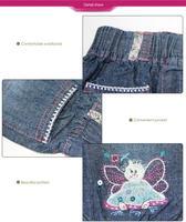 бесплатная доставка новый прибытие лето детские джинсы для девочек 6 шт./лот peat цветок 100% хлопок детская одежда оптовая продажа