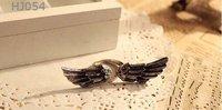 смешанный минимальный заказ $ 15 бесплатная доставка оптовая продажа новинка панк ювелирные изделия медь кольцо крылья hj054 рождественский подарок