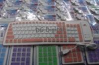5 шт./лот складной портативный гибкая виртуальной пыле-водонепроницаемый клавиатуры водонепроницаемость 103 клавиши большой отклик + бесплатная доставка