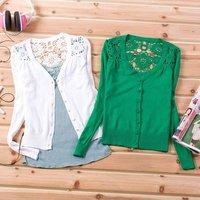 женская сумка-Крок цветок изделия дельта короткие дамы мода вязать рубашки с ди Recover кардиган куртка
