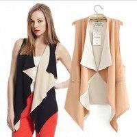 cl789 европейский стиль бренд шифон нерегулярные блузки топы жилет верхняя одежда пальто весна лето осень женщины леди одежда бесплатная доставка