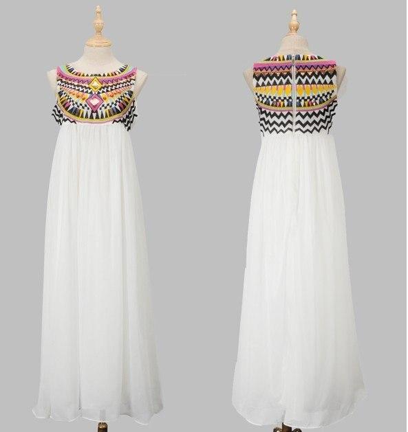 2013 Stylish Sequins Design Chiffon Maxi Dresses Embroidery ...