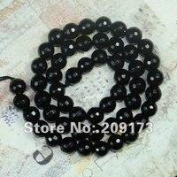 цена от производителя, 76 шт./лот, 10 мм черный граненные агат круглый мяч бусины, широкий полудрагоценных камней бусины, подходит ювелирных изделий
