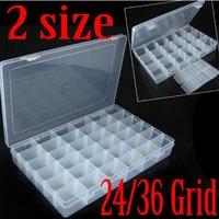 24 сетки 36 сетка пластиковая регулируемая ювелирные изделия бусины организатор ящик контейнер для хранения чехол