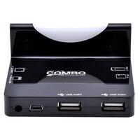 док-док-станция Cole синхронизации данных чтения карт и USB концентратор / м2 / мс / СД-ММС / МСР для samsung галактики S3 S4 для i9500 примечание 2 N7100 галактики - черный