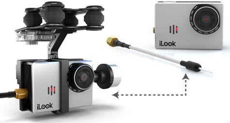 para iLook Walkera G-2D Gopro Hero 3 Sony Câmera para QR X350 PTZ
