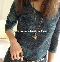 минимальный. заказ $ 15 мода бронзовый жемчуг корона ожерелье сеть ювелирных комплект горячая распродажа