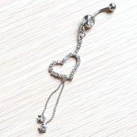 форме сердца с длинные цепочки живота puck кольцо ювелирные изделия jf15-101