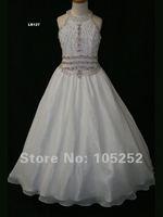 2011 бесплатная доставка оптовая продажа белый атлас девушки платье для балета