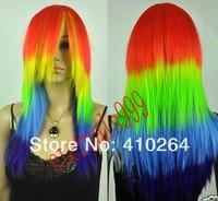 jewelry_wig $ потому харадзюку мой маленький пони рэйнбоу дэш много цвет косплей парик