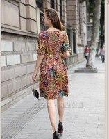 осень новый большой размер м . осень veto платья был тон платье с длинным рукавом большой метров комплект