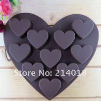 бесплатная доставка 10 шт. шоколад кремния прессформы торт производство плесень пищевой материал