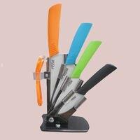 бесплатная доставка, 4 цвет керамический нож устанавливает 3 \ 4 \ 5 \ 6 дюймов + керамический нож + держатель