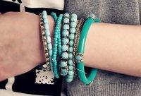 Min. order составляет $10 (заказ смешивания) Богемия ювелирные изделия браслеты комплект, бисер и камни 9 шт. браслет дорогостоящие темперамент 123014 К