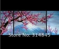бесплатная доставка! Abstract искусства вентилятор-суи маслом вишни живопись