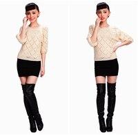 горячая распродажа мода шею clad крови женский свитер блузка