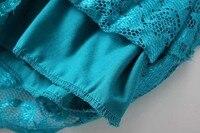 для женщин полный кружево платья сексуальный V-бюстгальтер провода середине рукава платья для женщин платье рубашка стрейч Elegant марка клуб платье qz015