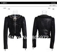 обвинение весна осень полиуретан марка прокладки продувки MOL женская мотоцикл куртки женщин кожа coats12d10013