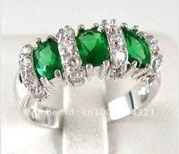 ювелирные изделия genuineswarovski кристалл изумруд женщины кольцо диаманд кольца размер : 6, 789 10, 11, 12