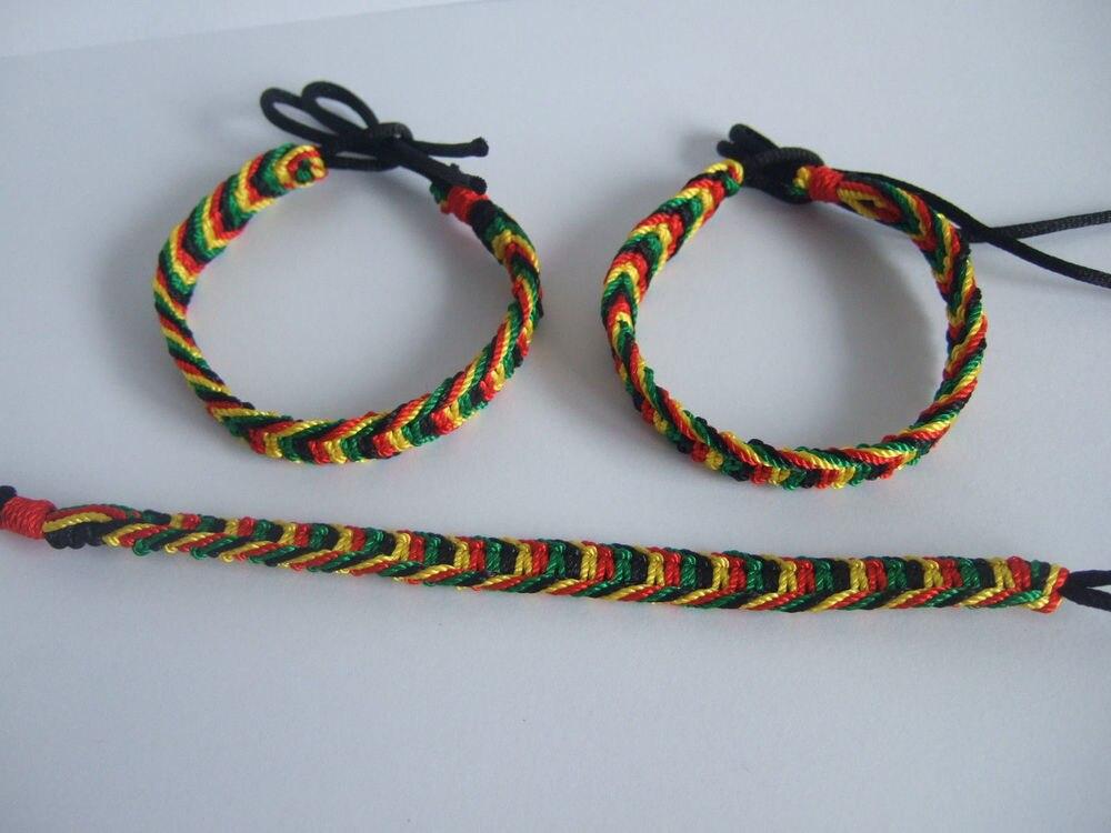 5pcs Rasta Friendship Bracelets Wristband Cotton Silk Reggae Jamaica Surfer Boho You Choose Style Strand In From Jewelry