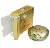 мода косметический золотой свет и мягкая дважды effective компактная пудра тон крем с зеркало для Maya и мешок 5 шт