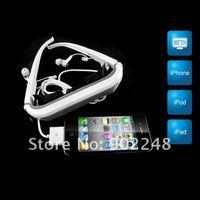 """бесплатная доставка! 84 """" виртуальный экран очки видео очки 84 дюймов монитор для iPhone / для iPad / для iPod"""