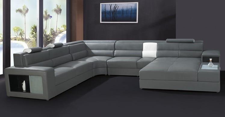 modern furniture sofa set leather sectional sofa home furniture ...