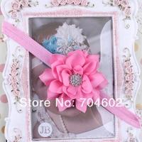 1 частей младенцы малыша цветок алмаз повязка на голову мягкий головные уборы лента для волос 13 цвет fd152