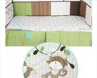 хлопок 6 шт. базовый комплект детские мультфильм постельного белья одеяло + детская бампер встроенная животные счастливую землю